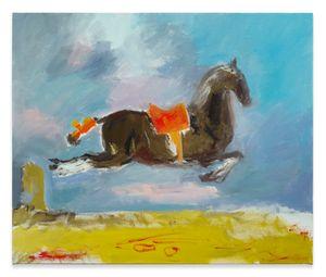 tiny leaping for joy by Karen Kilimnik contemporary artwork