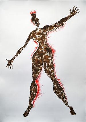Repeat Pattern 1. Crime Scene series by Jane McAdam Freud contemporary artwork