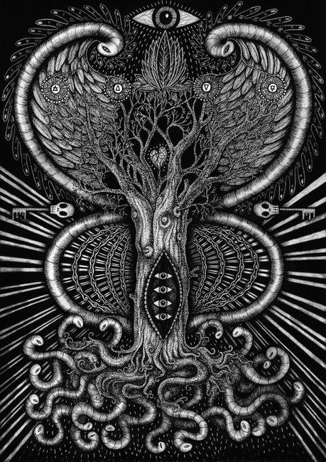 Earthworm Root Portal by Bert Gilbert contemporary artwork