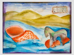 4-15-2020 by Francesco Clemente contemporary artwork