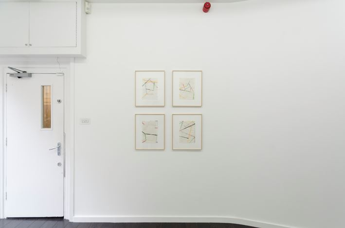 Exhibition view: Group Exhibition, REFLEX II: The Brain Closer Than The Eye,Bartha Contemporary, London (22 February–5 May 2018). Courtesy the artists and Bartha Contemporary.