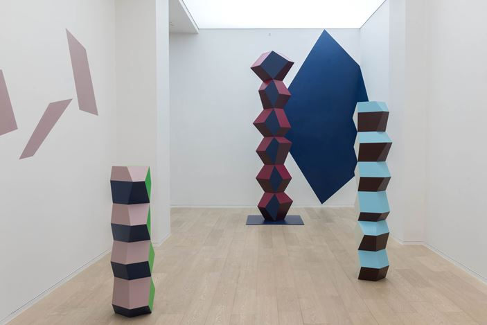 Exhibition view of Angela Bulloch, One Way Conversation..., 2016 at Simon Lee Gallery, Hong Kong. Photo: Kitmin Lee. Courtesy of Simon Lee Gallery.