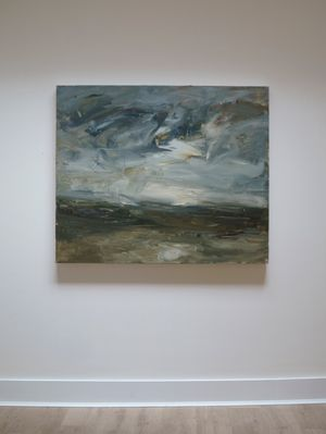 From the Hill (Carn Brea) by Louise Balaam contemporary artwork painting, works on paper