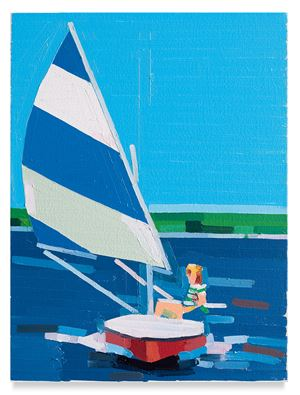 Teenager On Boat by Guy Yanai contemporary artwork