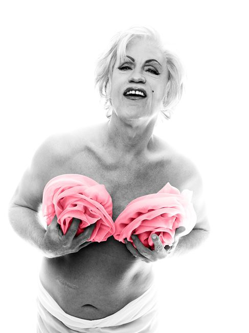 Bert Stern/ Marilyn with Pink Roses (From the Last Sitting, 1962) by Sandro Miller contemporary artwork