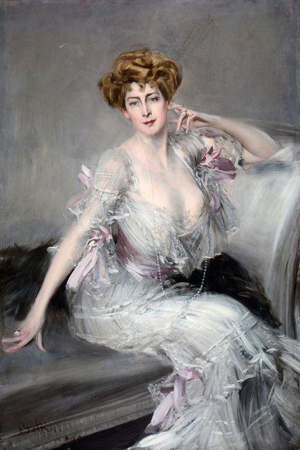 Portrait of Anna Elisabeth (née Been) Hansen by GIOVANNI BOLDINI contemporary artwork