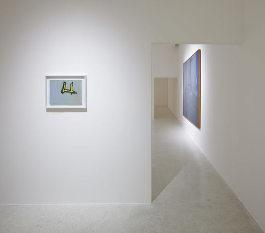 """Exhibition view: Robert Motherwell,Robert Motherwell's """"Open Paintings"""" and Related Collages, Pearl Lam Galleries Pedder Building, Hong Kong (9 January–6 March, 2019). Courtesy Pearl Lam Galleries."""