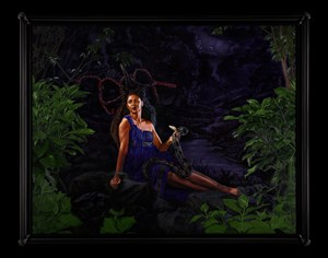 Portrait of Wangechi Mutu, Mamiwata by Kehinde Wiley contemporary artwork