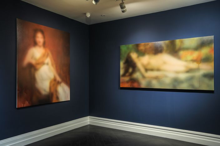 Exhibition view: Miaz Brothers,The Past, Present & Imperceptible, Maddox Gallery, Maddox Street, London (20 May–10 June 2021). Courtesy Maddox Gallery.