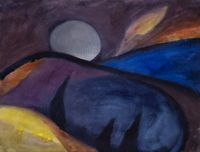 Vollmond by Herbert Beck contemporary artwork works on paper