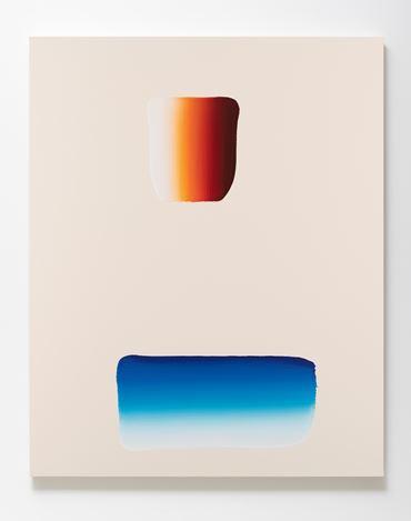 Lee Ufan, Dialogue (2018). Acrylic on canvas. 162 x 130 x 6 cm. Courtesy SCAI The Bathhouse. Photo: Nobutada Omote.