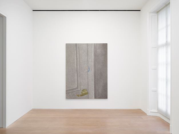Exhibition view: Nate Lowman, October 1, 2017, David Zwirner, London (3 October–9 November 2019). © Nate Lowman. Courtesy the artist and David Zwirner.