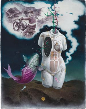 The Trip to the Yangmingshan of an Old-School Rider by Kuo Wei-Kuo contemporary artwork