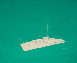 Cargo Ship on the Green Sea 《貨輪、綠海》 by Yeh Shih-Chiang contemporary artwork