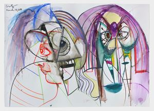 Together and Apart by George Condo contemporary artwork
