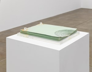 Untitled Xerox Sculpture 1 (green) by Barbara T. Smith contemporary artwork