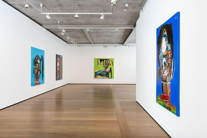 Exhibition view: Genesis Tramaine, Parables of Nana,Almine Rech, London (12 March—6 June 2020). Courtesy the Artist and Almine Rech. Photo: Melissa Castro Duarte.