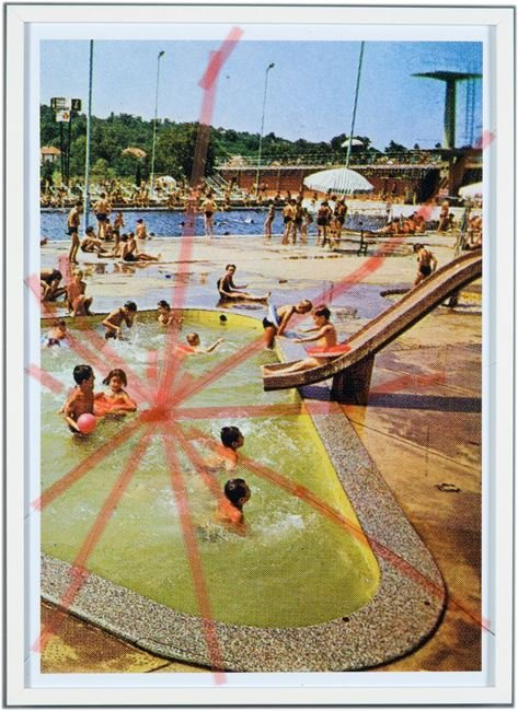 Nine Swimming Pools Behind Broken Glass #8 by Tanja Lažetić contemporary artwork