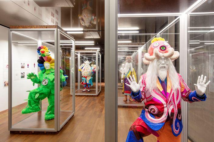 Exhibition view: Takashi Murakami, MURAKAMI vs MURAKAMI, Tai Kwun Contemporary, Hong Kong (1 June–1 September 2019). Courtesy Tai Kwun Contemporary. Photo: Kitmin Lee.