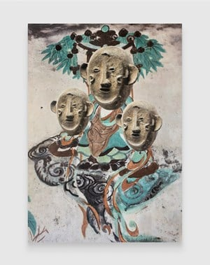 Evolution–South Wall of Mogao Cave No.172, Makonde Mask by XU ZHEN® contemporary artwork