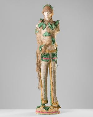 Woman in a forest by Linda Marrinon contemporary artwork sculpture