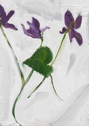 Violets by Chantal Joffe contemporary artwork
