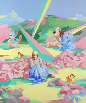 Figure in Landscape III by Stefan Dunlop contemporary artwork