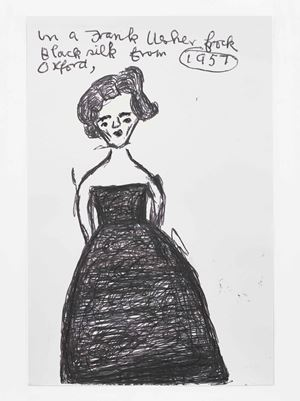 Frank Usher Frock by Rose Wylie contemporary artwork