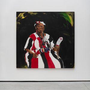 Retrato de mãe de santo de Exu by Moisés Patrício contemporary artwork
