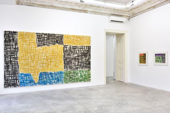 Exhibition view: Günther Förg, Game of Chess, Almine Rech, Rue de Turenne, Paris (6 March–10 April 2021). © Günther Förg. Courtesy the Artist and Almine Rech.Photo: Rebecca Fanuele.