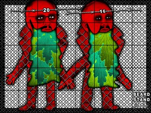 BEARD STAND by Gilbert & George contemporary artwork