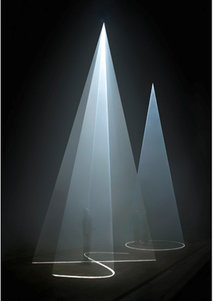 Between You and I, 2006 by Anthony McCall contemporary artwork
