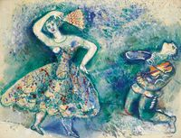 La danse by Marc Chagall contemporary artwork painting