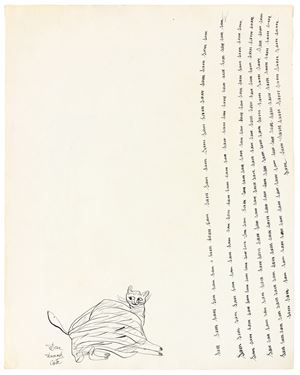 Untitled (Cats) (verso); Untitled (Rose) (recto) by Andy Warhol contemporary artwork