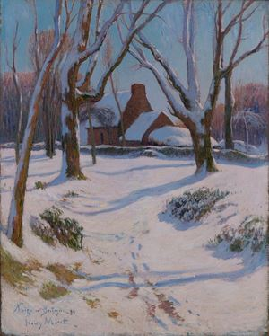 Neige en Bretagne by Henry Moret contemporary artwork