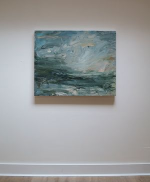 Pale Turquoise, Pearly Light by Louise Balaam contemporary artwork painting, works on paper