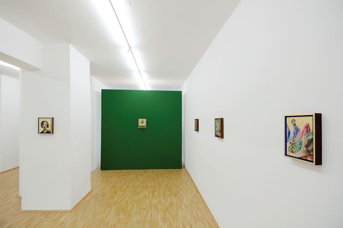Exhibition view: Peter Daverington, New Paintings, Susan Boutwell Gallery, Munich (17 May–22 June 2019). Courtesy Susan Boutwell Gallery. Photo. Jan Schünke.