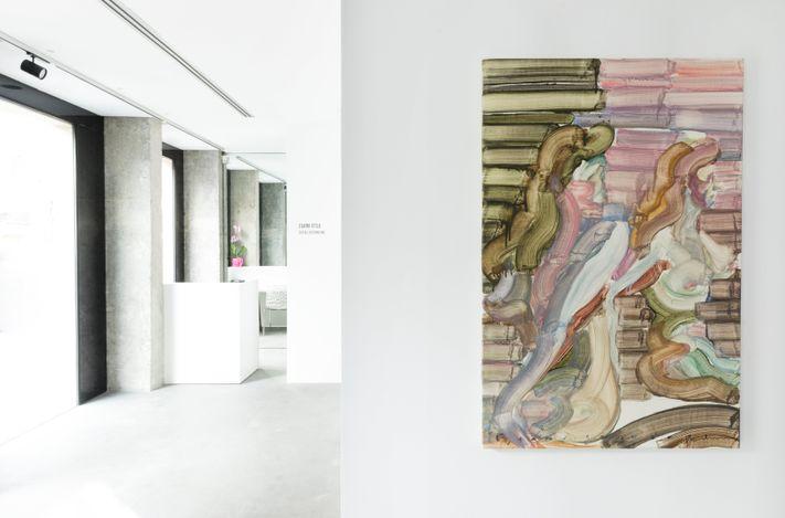 Exhibition view:Egami Etsu,Social distancing, A2Z Art Gallery, Paris (29 May–19 June 2021). Courtesy A2Z Art Gallery.