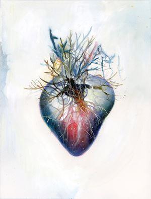 Entanglement Hearts - Earth Men by Maki Ohkojima contemporary artwork