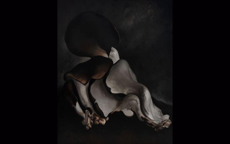 Yan Bing, Mushroom No.16(2019). Oil on canvas. 250 x 200 cm. Courtesy ShanghART, Beijing.