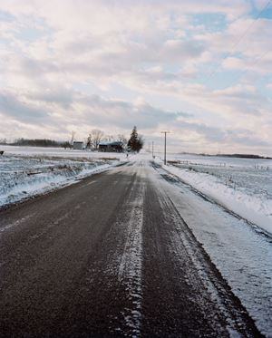 Road in Snow by Gregory Halpern contemporary artwork