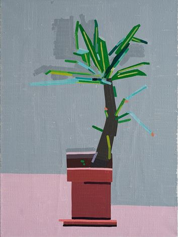 Guy Yanai, Small Gilboa plant (2019). Oil on linen. 84 x 64 cm. Courtesy FLATLAND,