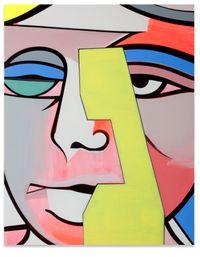 Portrait N.W. Peaslee by Thomas Scheibitz contemporary artwork mixed media