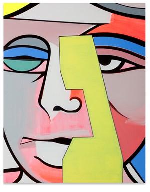 Portrait N.W. Peaslee by Thomas Scheibitz contemporary artwork
