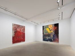 "Oscar Murillo<br><em>the build up of content and information</em><br><span class=""oc-gallery"">David Zwirner</span>"