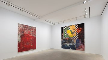 Contemporary art exhibition, Oscar Murillo, the build up of content and information at David Zwirner, Hong Kong