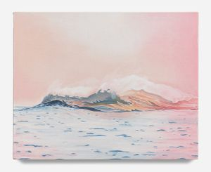 Offshore Blush by Adam De Boer contemporary artwork painting, works on paper