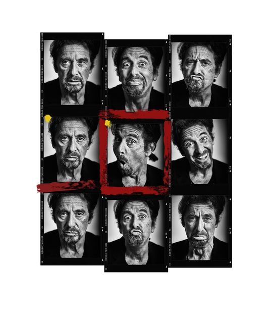 Al Pacino Contact Sheet by Andy Gotts contemporary artwork