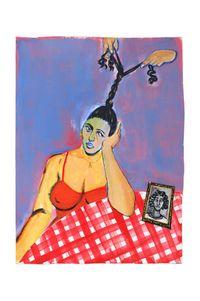Trop fatiguée pour se tresser by Neïla Czermak Ichti contemporary artwork painting, works on paper