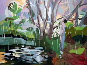 Elle in the Rain by Oliver Watts contemporary artwork